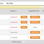 Step1 - Godaddy domains List