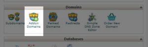Addon Domain Link