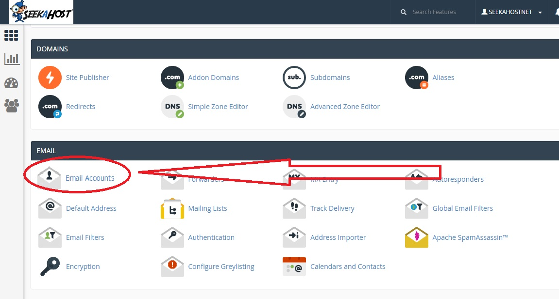 How to create email account in cPanel